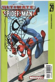 Ultimate Spider-man #29 Signed Art Thibert Spider-man Sketch COA Ltd 25 Jay Company Originals